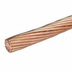 Câble , fil cuivre nu 25 mm²  pour prise et mise à la terre 3 mètres