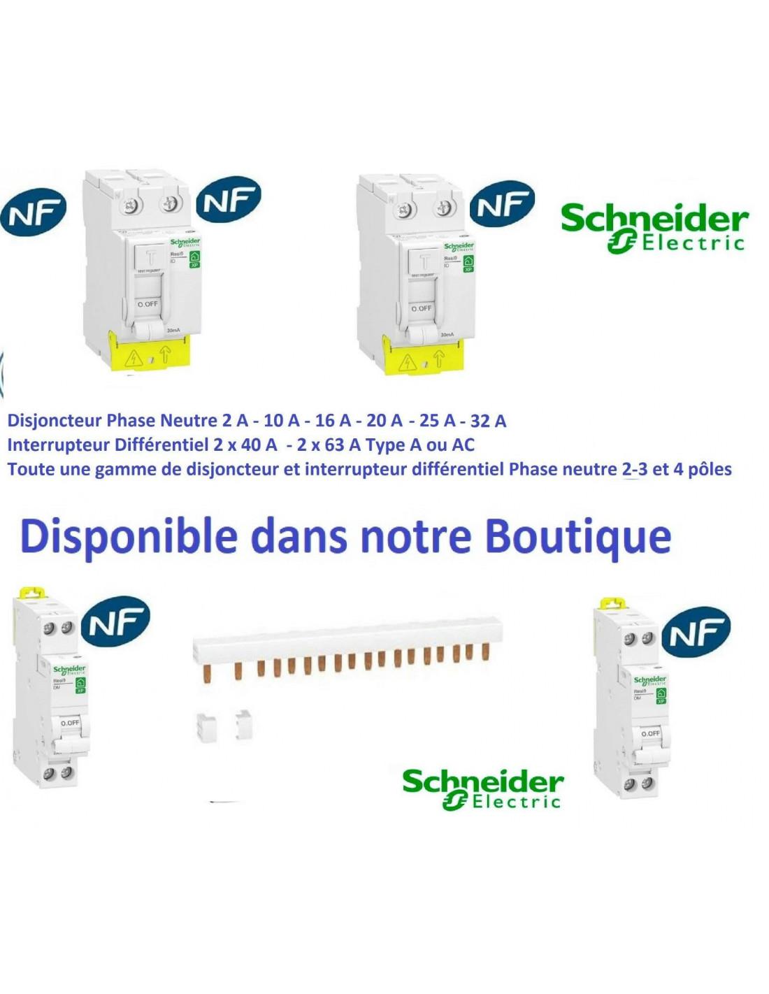 livraison gratuite Lot de 4 disjoncteurs 1P+N 10A
