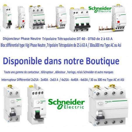 Disjoncteur 1p + n 16A - courbe C - peignable  Schneider  R9PFC616