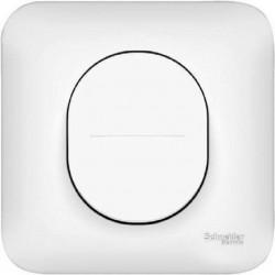 Interrupteur simple allumage 10A avec plaque Schneider Ovalis blanc S260202
