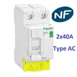 Dijsoncteur 1P+N 2A-10A-16A-20A-32A Interrupteur dif A-AC 2x40A-2x63A Schneider
